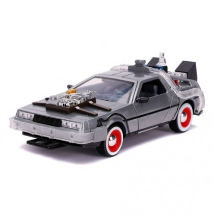Jada Toys Die-Cast 1:24 Back to the Future Part III Hollywood Rides Delorean Time Machine Vehicle
